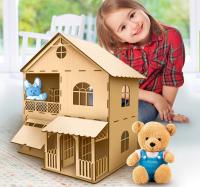 Кукольный дом двухэтажный 33х22х40 см