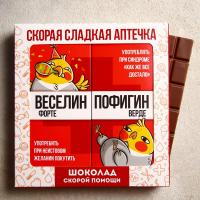 Шоколад молочный «Сладкая аптечка», 2 шт. х 85 гр.