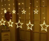 Гирлянда Звезды (10 шт) вниз 70 см