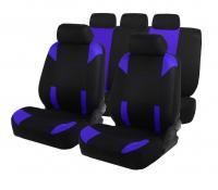 Авточехлы на сиденья TORSO Premium универсальные, 9 предметов, чёрно-синий AV-36