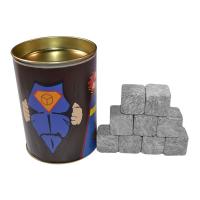 "Набор камней для виски ""Супергерой"", 9 шт в тубусе"