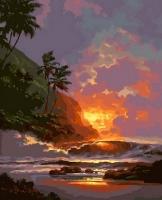 Картина по номерам 40*50 Гавайский закат 20918
