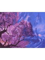 Картина по номера 40*50 Цвет сакуры в горах 21763