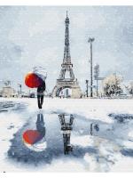 Картина по номера 40*50 Зимний париж 21833
