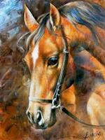 Картина по номерам GX 22796  Конь 40*50