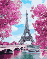Картина по номерам GX 24449 Цветущие вишни в Париже 40*50