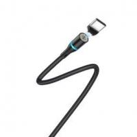 Кабель USB - Type-C BOROFONE BU16 1.2m в оплетке магнитный с инд. Black