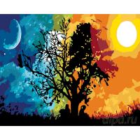 Картина по номерам GX 29446  День и ночь 40*50