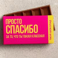 Шоколад молочный «Спасибо», 27 г.