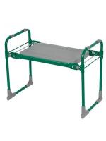 Скамейка-перевёртыш садовая складная 56 х 30 х 42,5 см, зелёная, максимальная нагрузка100 кг