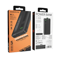 Внешний аккумулятор Borofone BT32 10000 mAh 2USB 2A/Lightning/Type-C Black