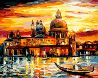 Картина по номера 40*50 Золотое небо Венеции 20338
