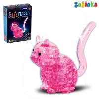 Пазл 3D кристаллический, «Кот», 21 деталь, цвета МИКС