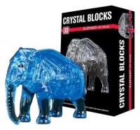 Пазл 3D кристаллический «Слон», 41 деталь, МИКС