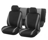 Авточехлы на сиденья TORSO Premium универсальные, 6 предметов, чёрно-серый AV-12