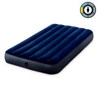 Матрас велюр синий  INTEX  (99*191*25 см) №64757
