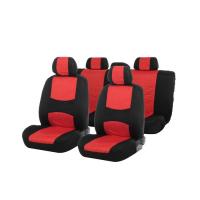 Авточехлы на сиденья TORSO Premium универсальные, 9 предметов, чёрно-красный AV-5