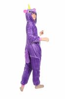 Кигуруми 3D Фиолетовый Единорог 95-110 см