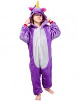 Кигуруми 3D Фиолетовый Единорог 105-120 см