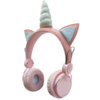 Наушники HEADPHONES WIRELESS + UNICORN Розовый Единорог