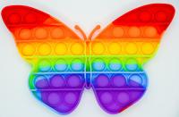Pop it - игрушка антистресс Меняет цвет Among as (бабочка)