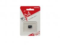 MicroSD Smartbuy 64GB + адаптер SD Class 10