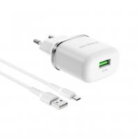Зу Borofone BA36A +кабель microUsb быстрая зарядка