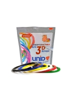 UNID Набор пластика для 3D ручек: ABS-9 (по 10м. 9 цветов)