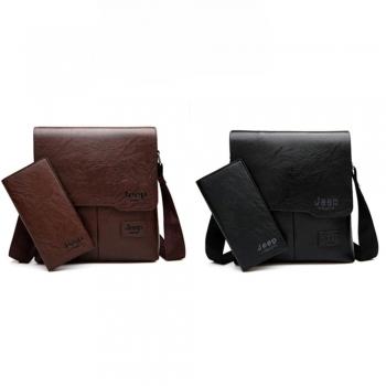 Мужская сумка jeep +бумажник