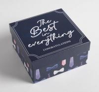 """Подарочная коробка """"Джентльмен""""16 х 16 х 9 см"""