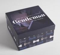 """Подарочная коробка """"Джентльмен""""20 х 20 х 11 см"""