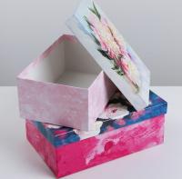 """Подарочная коробка """"Цветы"""" 20 х 12.5 х 7.5 см"""