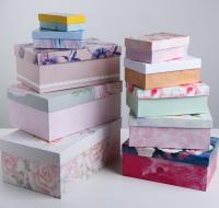 """Подарочная коробка """"Цветы"""" 28 х 18.5 х 11.5 см"""