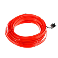 Неоновая нить для подсветки салона, красная(белая,синяя), 1 м