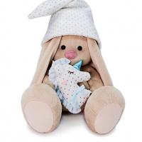 Мягкая игрушка «Зайка Ми с голубой подушкой - единорогом», 23 см