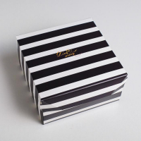 "Коробка из картона ""Монохром"" 17*9*17 см"