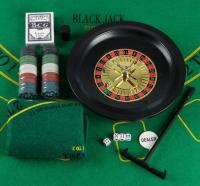 Игровой набор: рулетка (карты 54 шт, фишки 100 шт, б/номин, кубики 4 шт, поле 33х29 см)