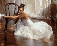 Картина по номера 40*50 Балерина у стула 22036
