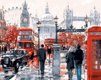 "Картина по номерам на холсте GX8362 ""Лондонская суета"", 40х50,"