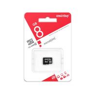 Карта памяти 8 Gb microSD Smartbuy Class10 c адаптером