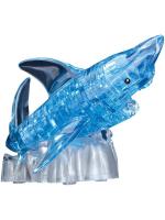 3D пазл кристаллический «Акула», 40 деталей, световые эффекты, работает от батареек