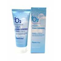 Пенка для умывания  O2 Premium Aqua Foam Cleansing FARMSTAY