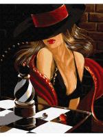 Картина по номера 40*50 Ретро красные губы 22910