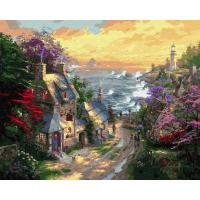 Картина по номера 40*50 Домики у моря 22503