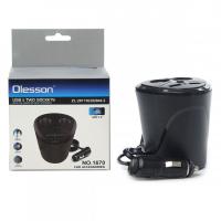 Разветвитель прикуривателя OLESSON 1670 2 гнезда+ 2 USB