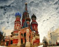 Картина по номерам 40*50 Храм Василия Блаженного 21290