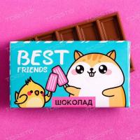 Шоколад молочный Best friends: 27 г.