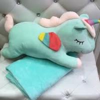 Игрушка-подушка-плед 160*120 см Единорог