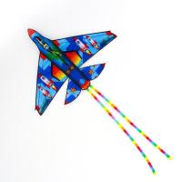 Воздушный змей «Истребитель», с леской, цвета МИКС