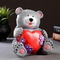 """Копилка """"Медведь с сердцем"""" 19см"""